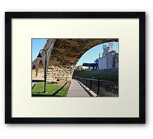 Under The Stone Arch Bridge Framed Print