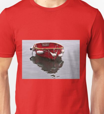 Small Red Boat Unisex T-Shirt