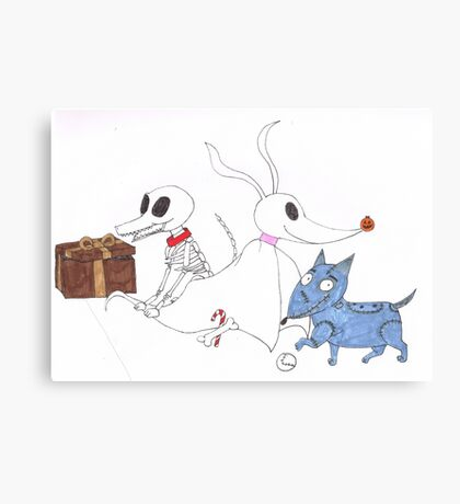 Scary Dogs Canvas Print