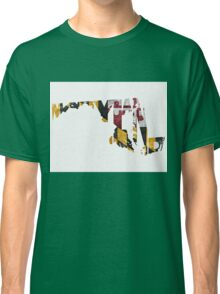 Maryland Typographic Map Flag Classic T-Shirt