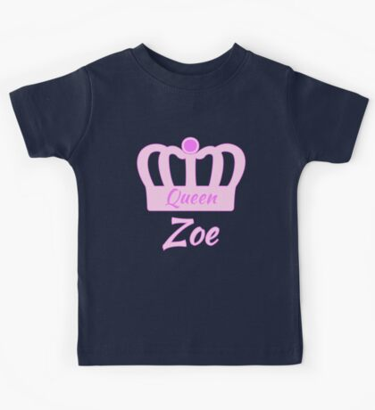 Baby Zoe is the new Queen in the family Kids Tee
