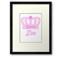 Baby Zoe is the new Queen in the family Framed Print