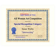 Special Recognition-Intersecting Art Print