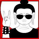 The Heavy Metal Buddha by TheKamikazen
