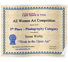 5th Place- Think In the Open Air Poster