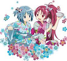 Sayaka & Kyoko - Puella Magi Madoka Magica by alphavirginis