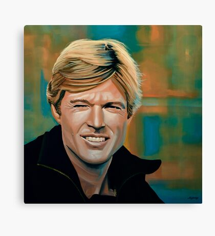 Robert Redford Painting Canvas Print