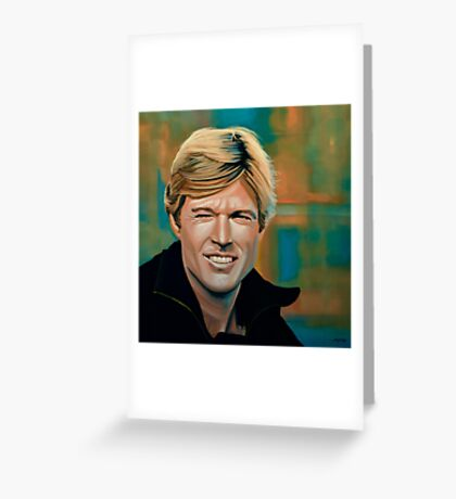 Robert Redford Painting Greeting Card