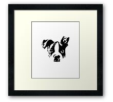 Boston Terrier Black and White What? - For Dog Lovers Puppy Framed Print