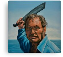 Robert Shaw in Jaws Painting Canvas Print