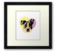 Boston Terrier Pop art watercolor- For Dog Lovers puppy Framed Print
