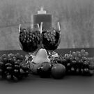 Drink For Two in Black and White by Sherry Hallemeier