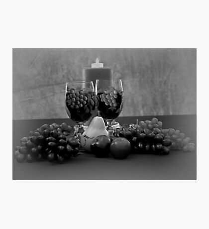Drink For Two in Black and White Photographic Print