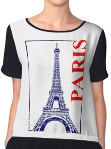 Paris-Eiffel Tower  Chiffon Top
