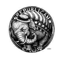 Republican Elephant by MacKaycartoons