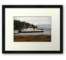 MV Loch Fyne approaching Fishnish Framed Print