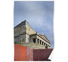 Shrine of Remembrance, Melbourne, Australia.  Poster