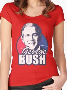 George Bush is funny Women's Fitted Scoop T-Shirt