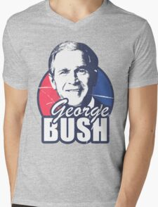 George Bush is funny Mens V-Neck T-Shirt