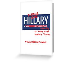 Bitter About Hillary Greeting Card
