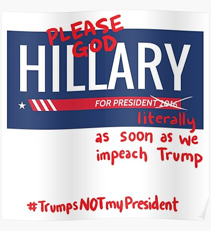 Bitter About Hillary Poster