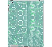 Green And White Monoprint Abstract iPad Case/Skin