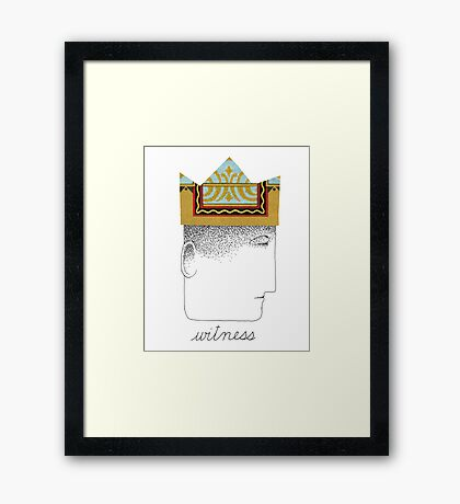 Silent Witness Framed Print