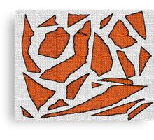 Orange white Canvas Print