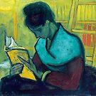 Van Gogh - The Novel Reader  by IntWanderer