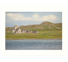 Iona Abbey from Fionnphort Art Print