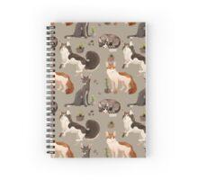 Cat Pattern Spiral Notebook