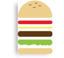 Cheese Burger Canvas Print