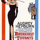 Breakfast At Tiffanys Classic Movie Poster by Simon Gentleman