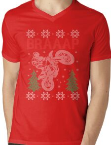 Motocross Braaap Christmas Mens V-Neck T-Shirt
