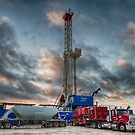 Drilling Rig after the Rain by Craig Hender