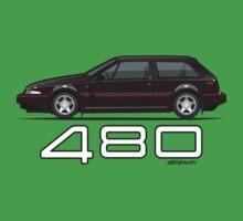 Volvo 480 (black) Kids Tee