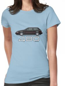 Volvo 480 (black) Womens Fitted T-Shirt