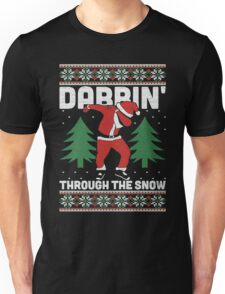 Christmas Dabbin Through The Snow Unisex T-Shirt
