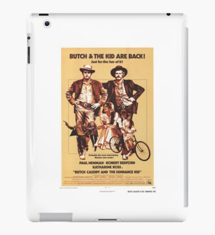 Butch Cassidy and the Sundance Kid Classic Movie Poster iPad Case/Skin