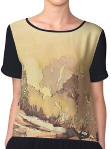 Sunrise in Africa Chiffon Top