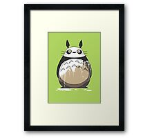 Totoro Painting Panda Framed Print