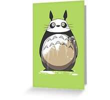 Totoro Painting Panda Greeting Card