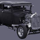 Hot Rod Ford Duotone by John Ayo