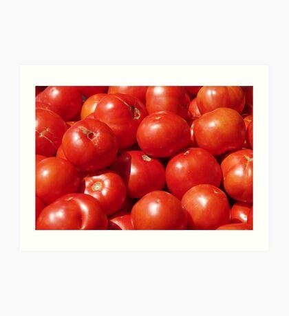 Farmers Market Tomatoes Art Print