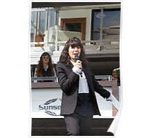 Claudia Winkleman at the Southampton Boat Show 2014 Poster