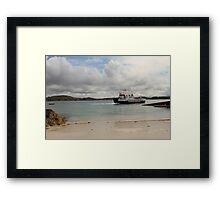 MV Loch Buie leaving Iona Framed Print