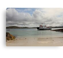 MV Loch Buie leaving Iona Canvas Print