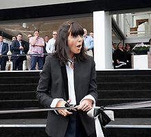 Claudia Winkleman cuts the ribbon by Keith Larby
