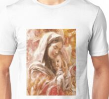 Beautifully illustrated Mary and Baby Jesus Unisex T-Shirt
