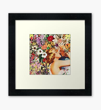Floral Bed Framed Print